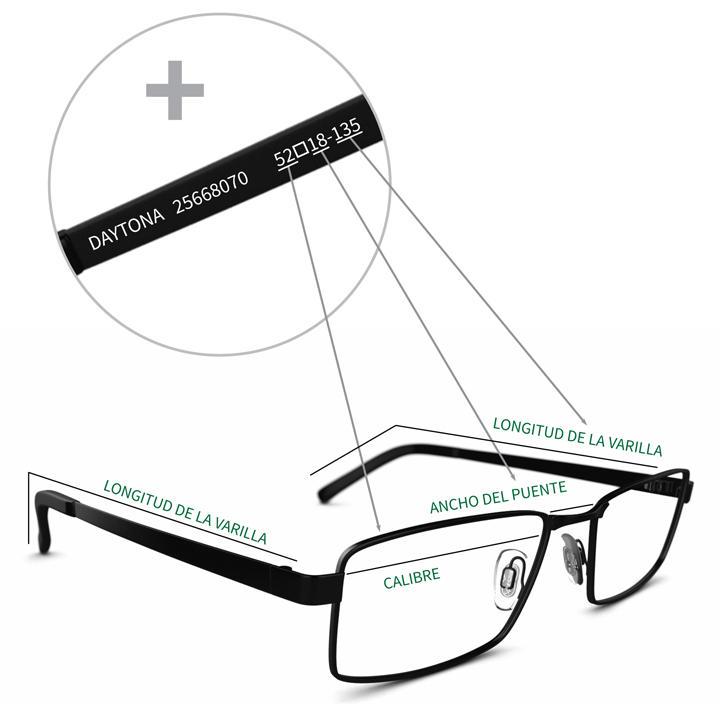 Guía sobre el tamaño de la montura | Specsavers Ópticas España